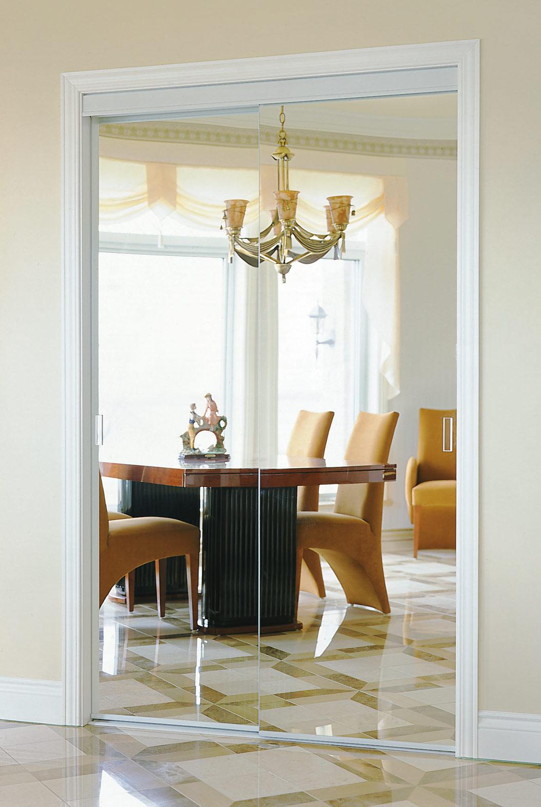 Frameless closet door  Colonial Elegance