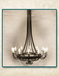 San Antonio Wrought Iron Lamps and Lighting Fixtures ...
