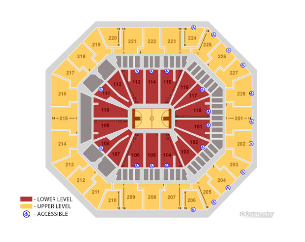 Colonial Life Arena Seating Chart