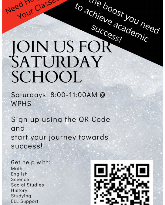 Sign Up: Saturday School