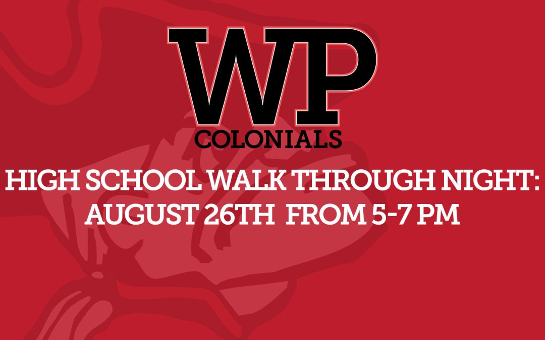 Walk Through Night: August 26 from 5-7 pm