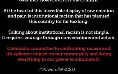 Colonial's commitment to confronting racism