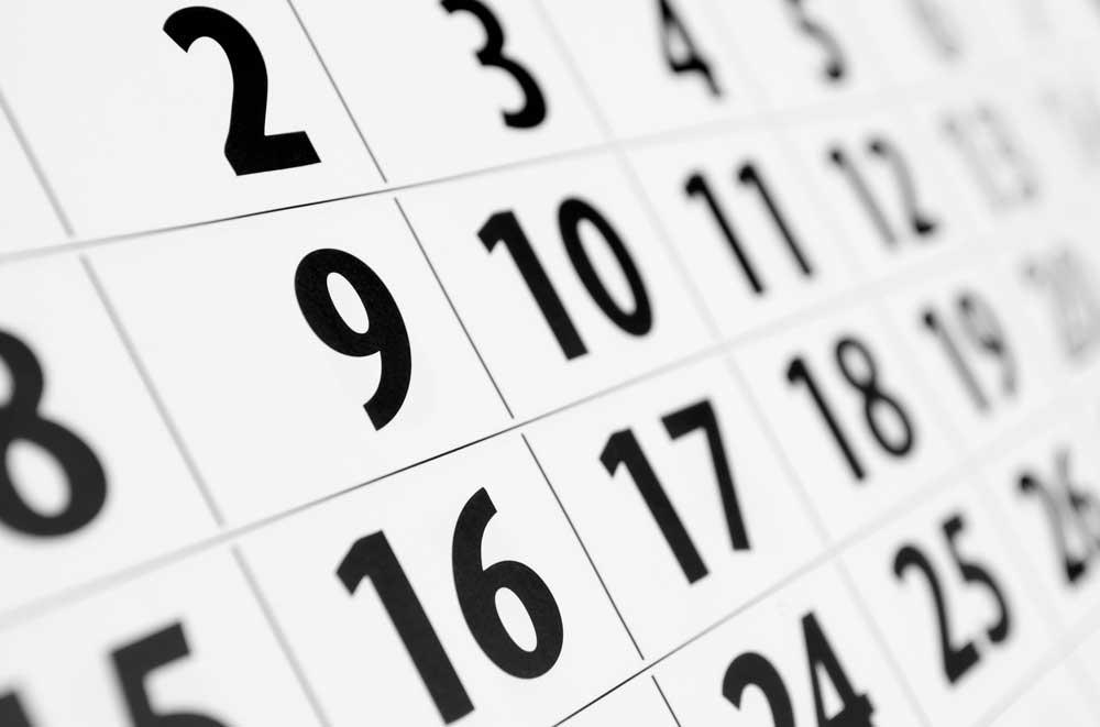 تحديثات التقويم: المراحل 1-5