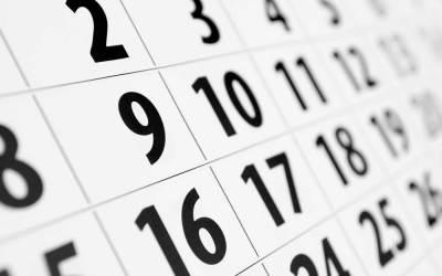 Actualizaciones del calendario: Fases 1-5