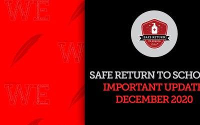 Actualización sobre el regreso seguro a las escuelas para diciembre
