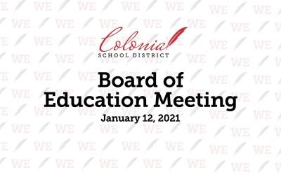 Reunión de la Junta de Educación de enero de 2021