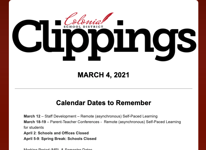 القصاصات الاستعمارية: 4 مارس 2021