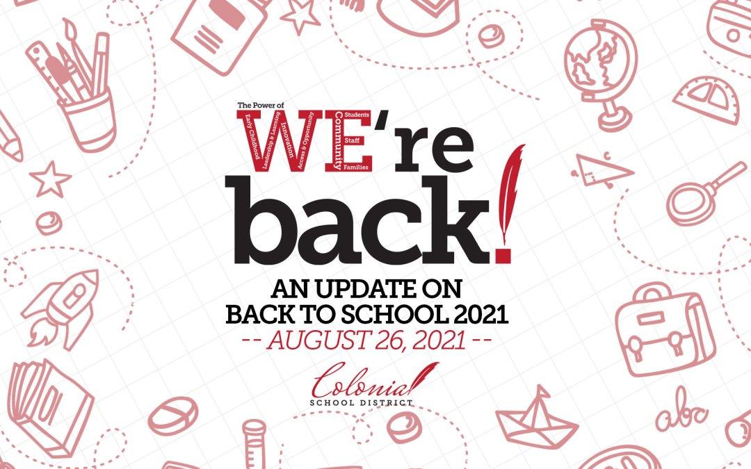 Actualización de regreso a clases: 26 de agosto de 2021