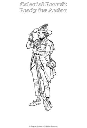 Colonial Coloring Pictures