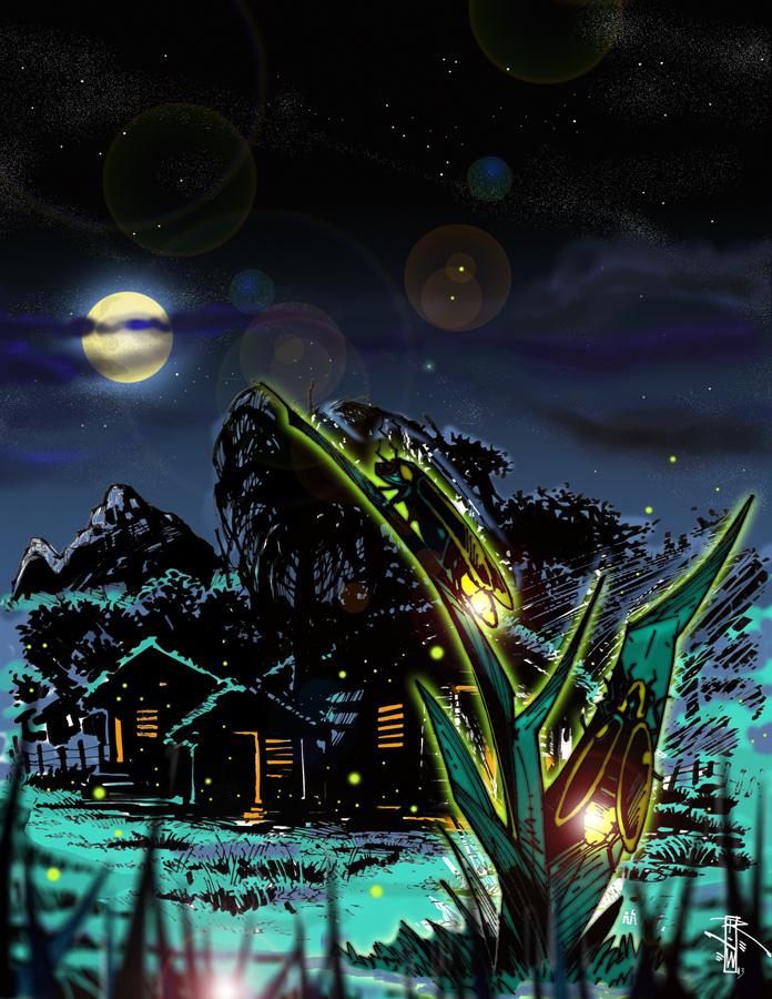 Interpretation of Dominican myth legend of las Nimitas by Artist-Illustrator Ray Wu
