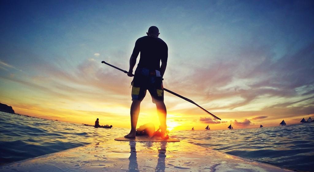 kayaking on sea