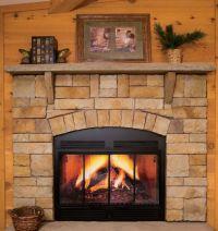 Sandstone Fireplace - Home Design