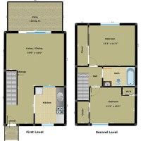 Two Bedroom Townhouse Floor Plans