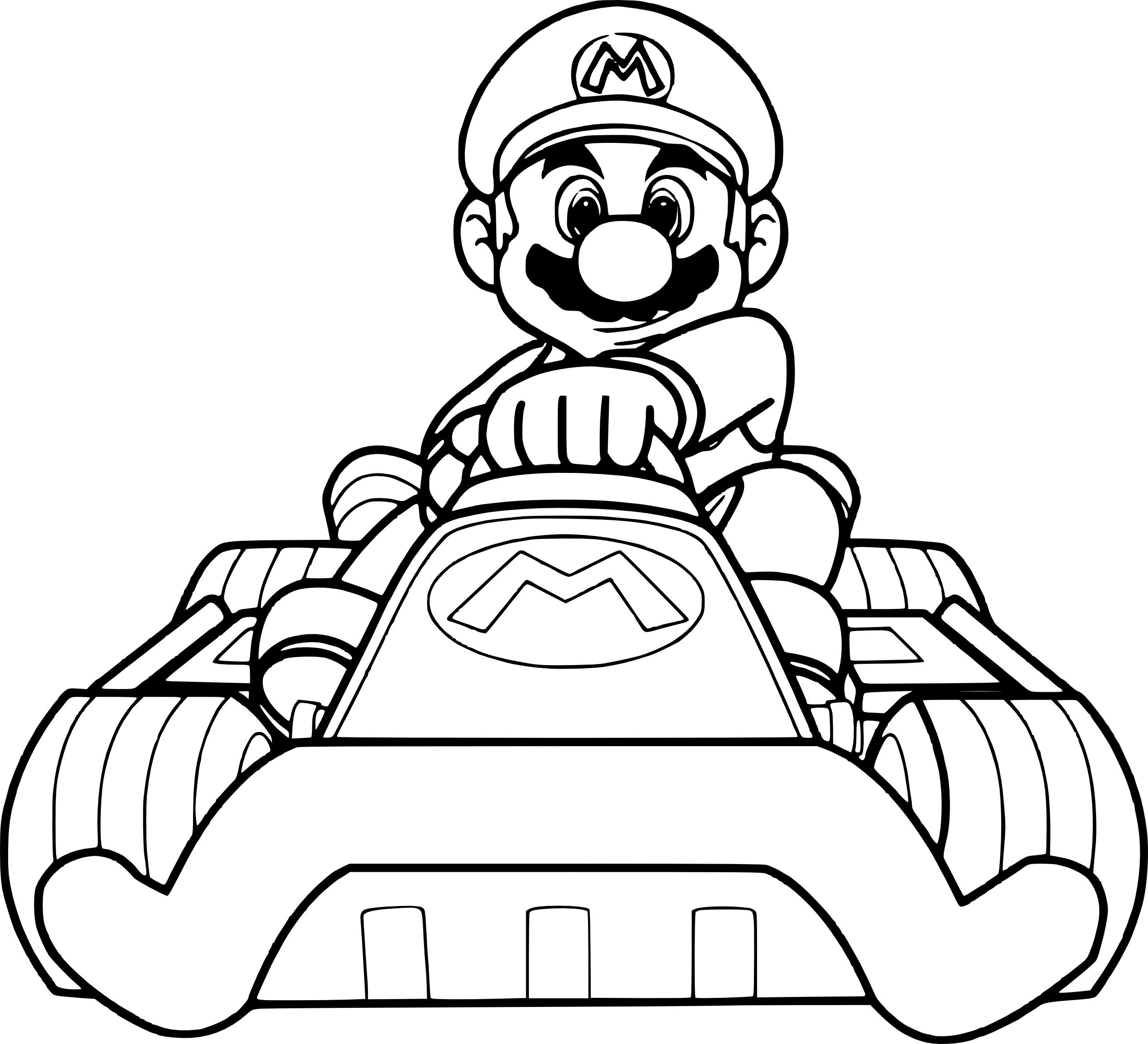 Coloriage Mario Kart à imprimer