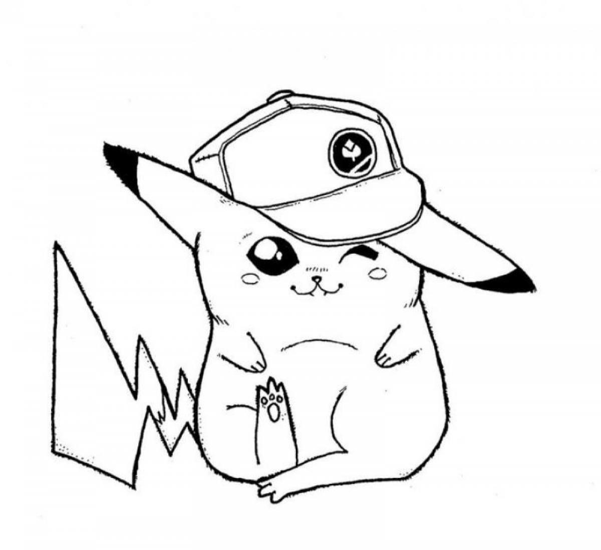 Coloriage Pikachu Sacha à imprimer