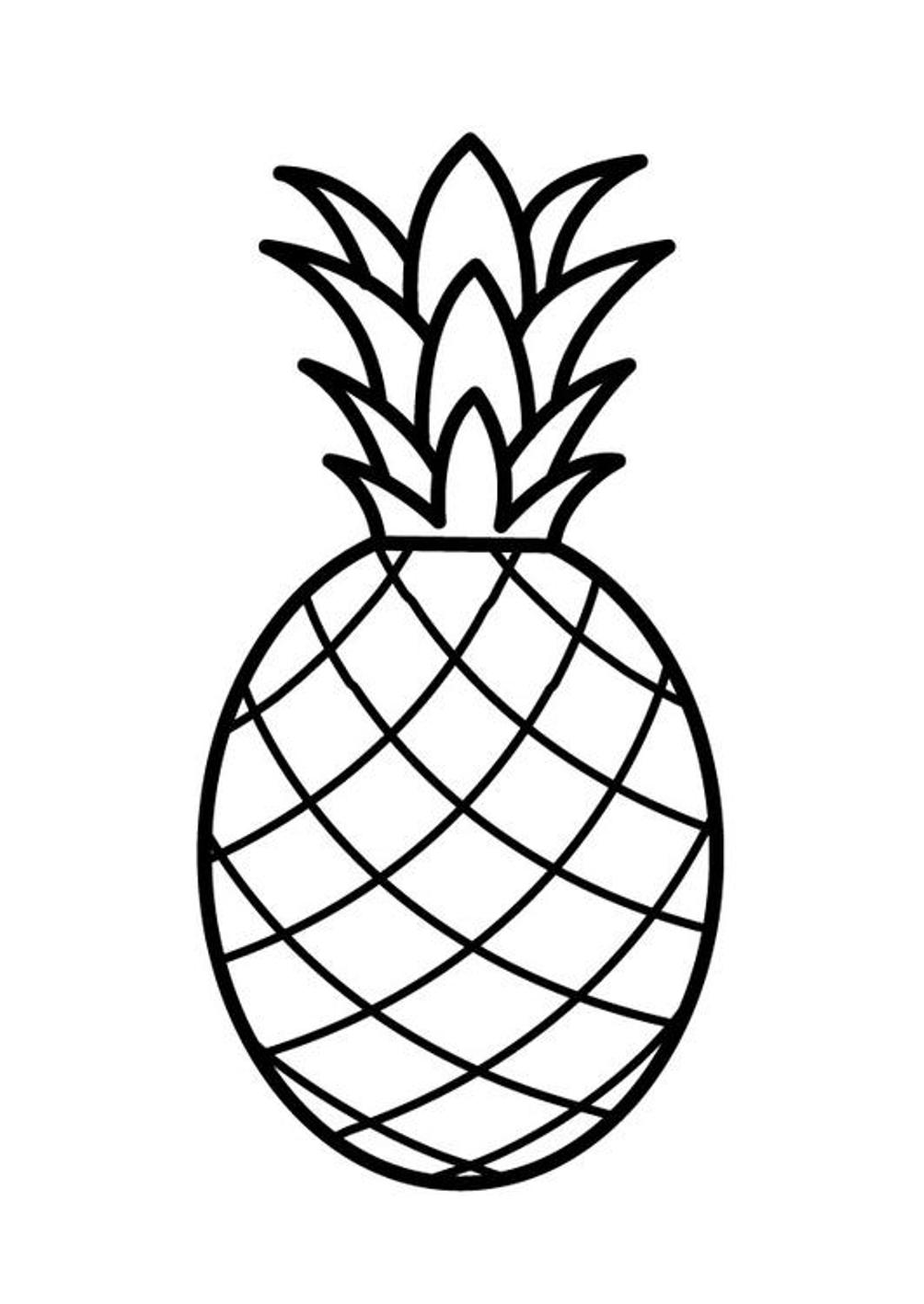 Coloriage ananas à imprimer