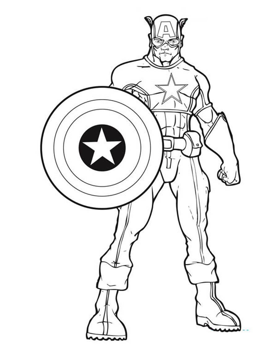 Coloriage Captain America à imprimer