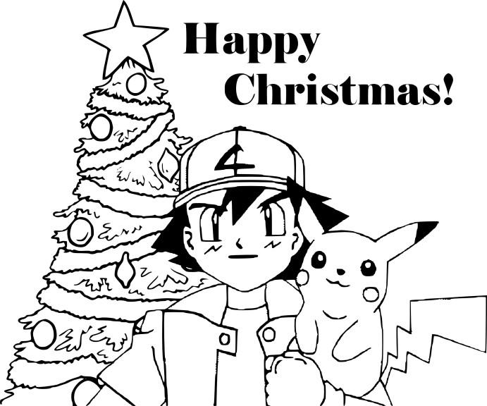 Coloriage Pokemon noël à imprimer