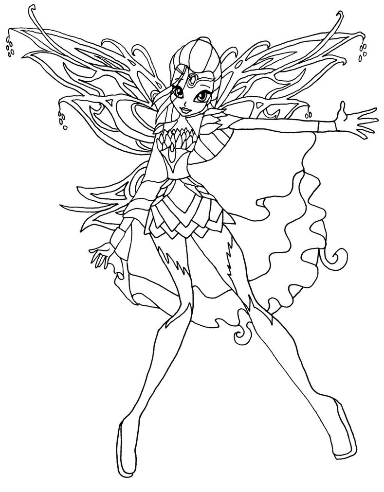 Winx Club Sophix Coloring Pages Bloom Flora Auto