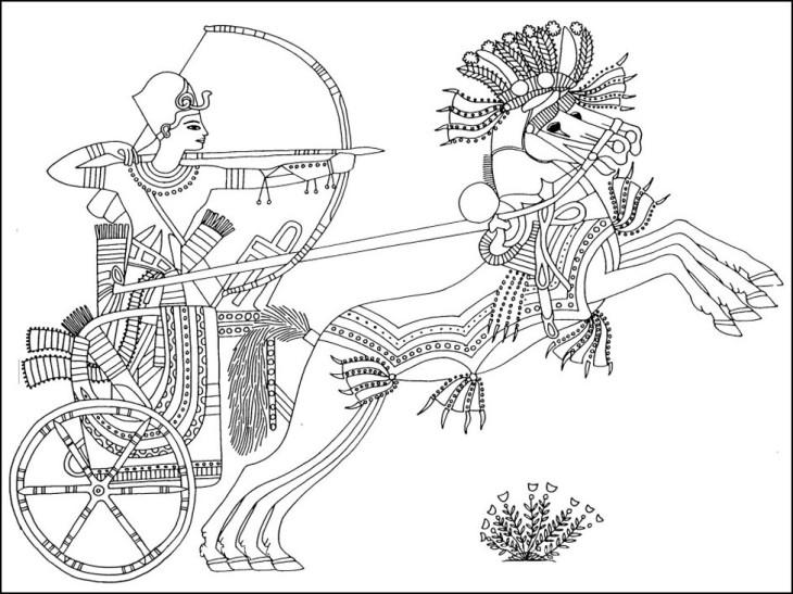 Coloriage Egypte antique à imprimer