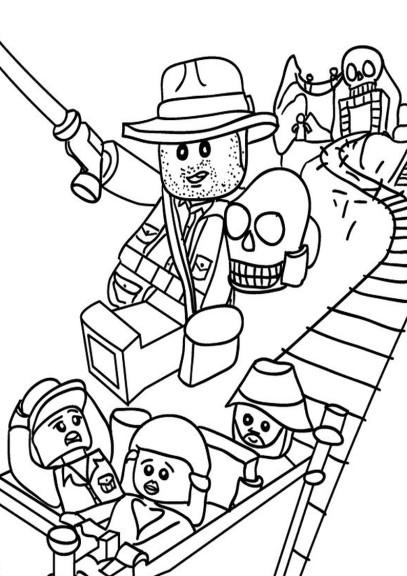 Coloriage Indiana Jones Lego Imprimer