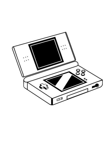 Coloriage Nintendo DS à imprimer