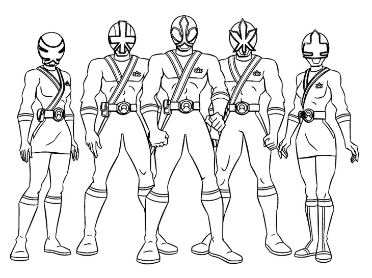 Coloriage Power Rangers à imprimer