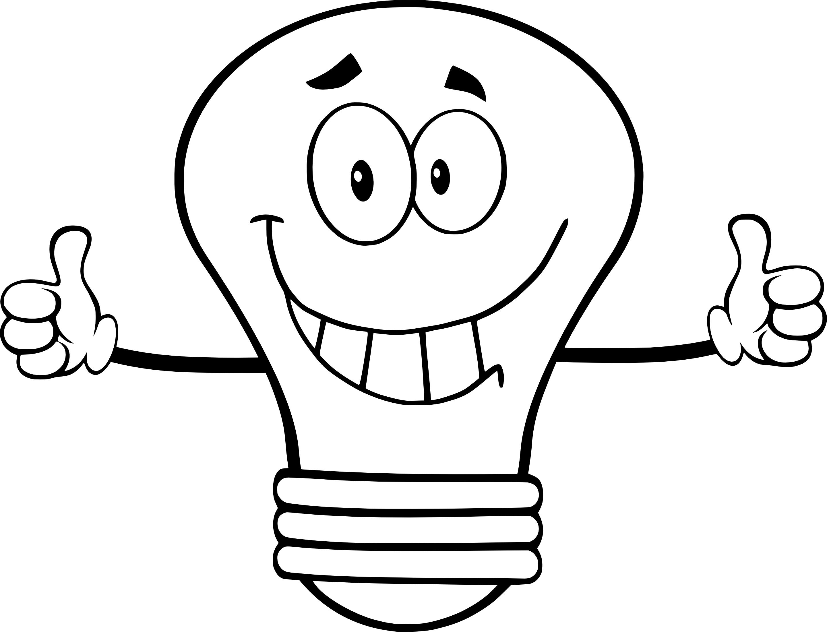 Coloriage ampoule à imprimer