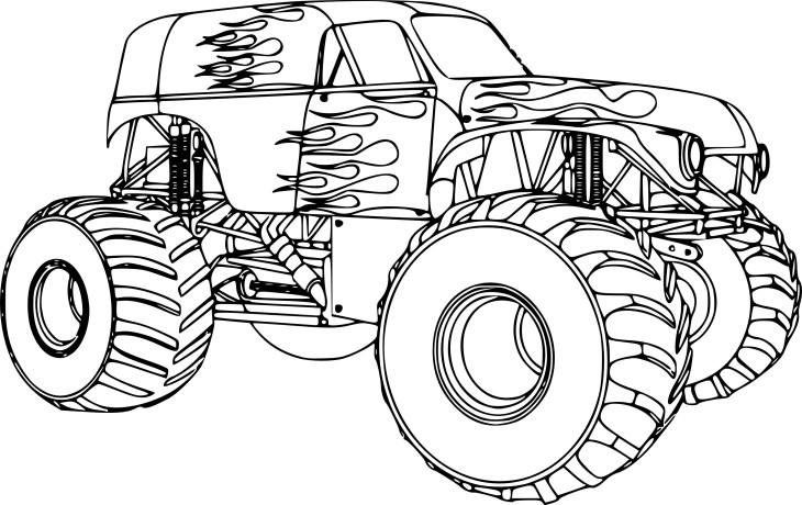 Coloriage bigfoot voiture à imprimer