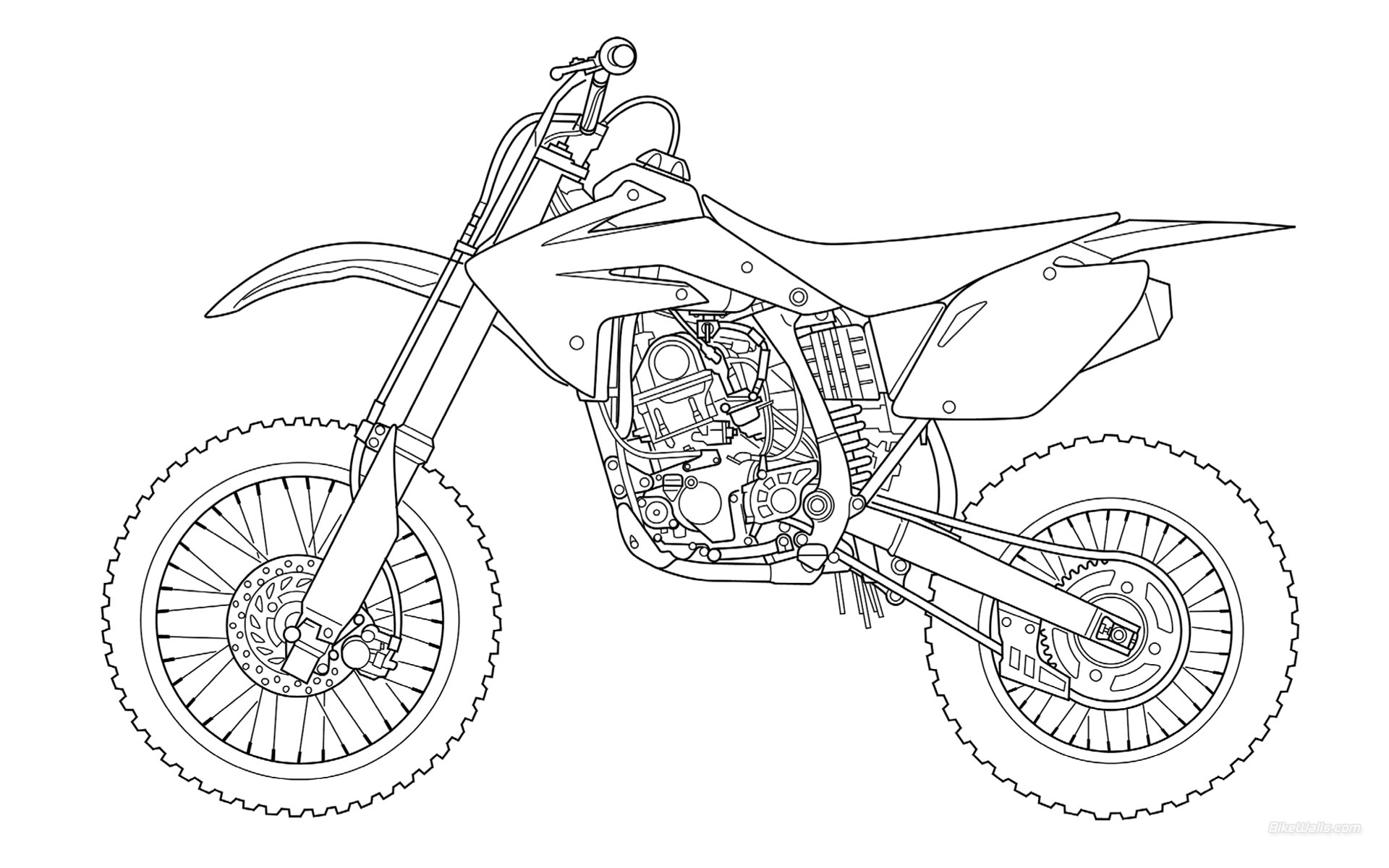 Coloriage motocross gratuit à imprimer