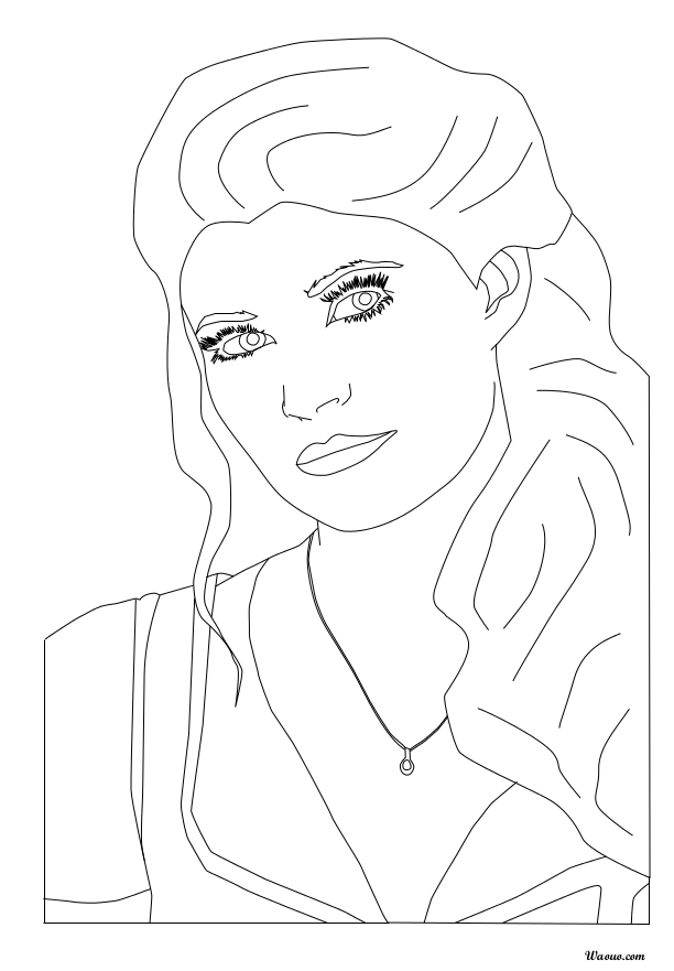 Coloriage Belle Once Upon A Time Imprimer