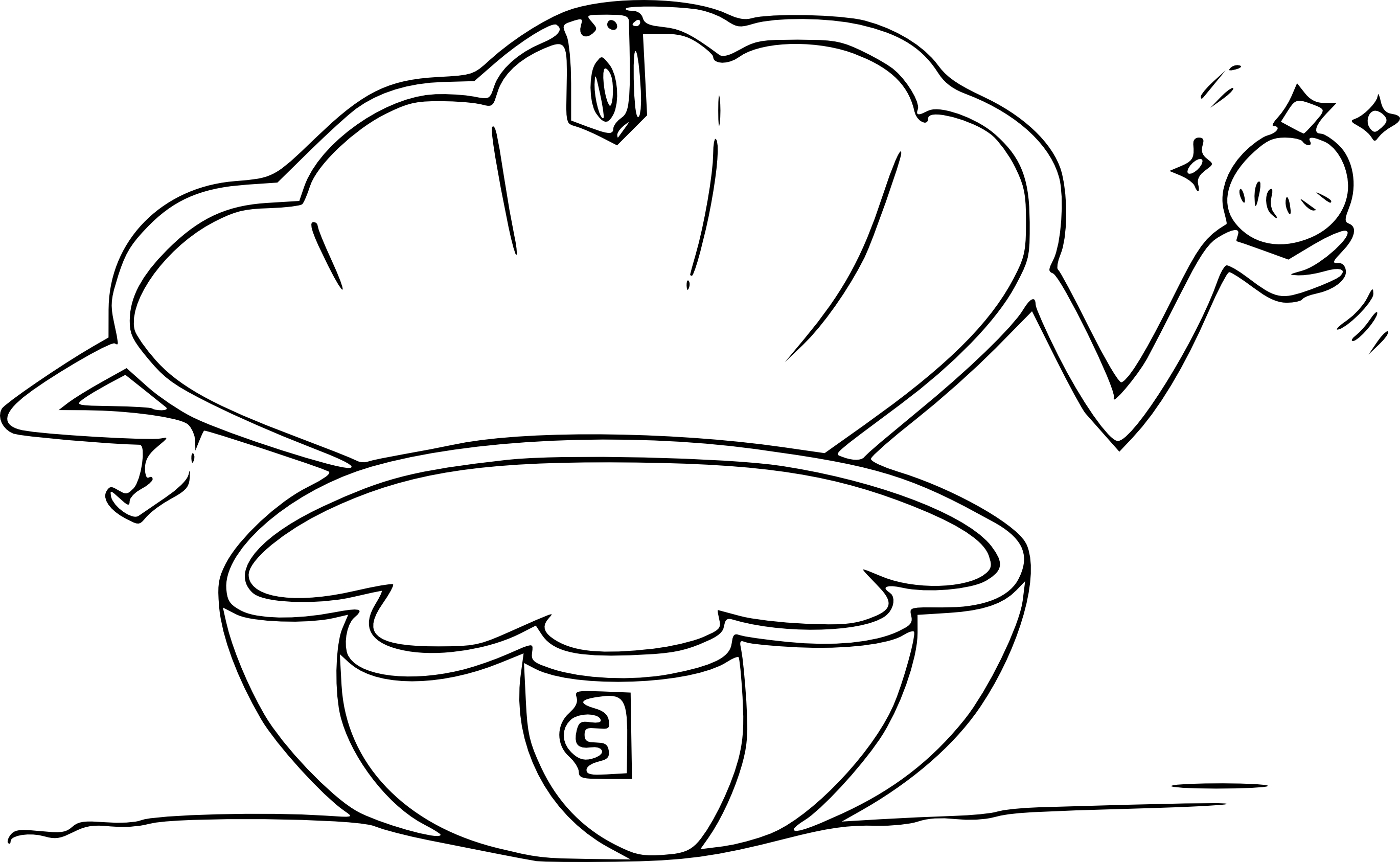 Coloriage Coquillage Ouvert Coloriagecoquillageouvert