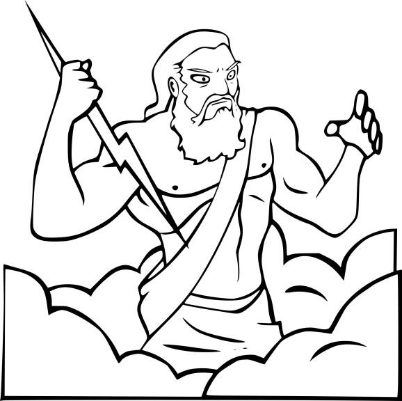 Coloriage Zeus à imprimer