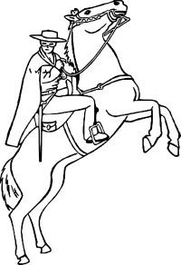 Coloriage Cheval Zorro Imprimer Sur Coloriages Info