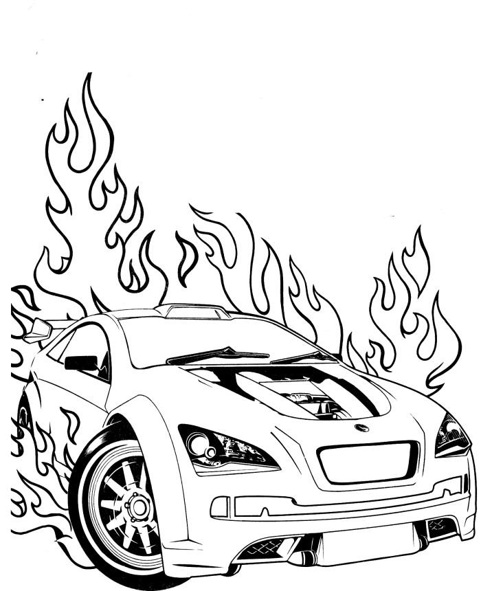 Coloriage Hot Wheels et dessin à imprimer