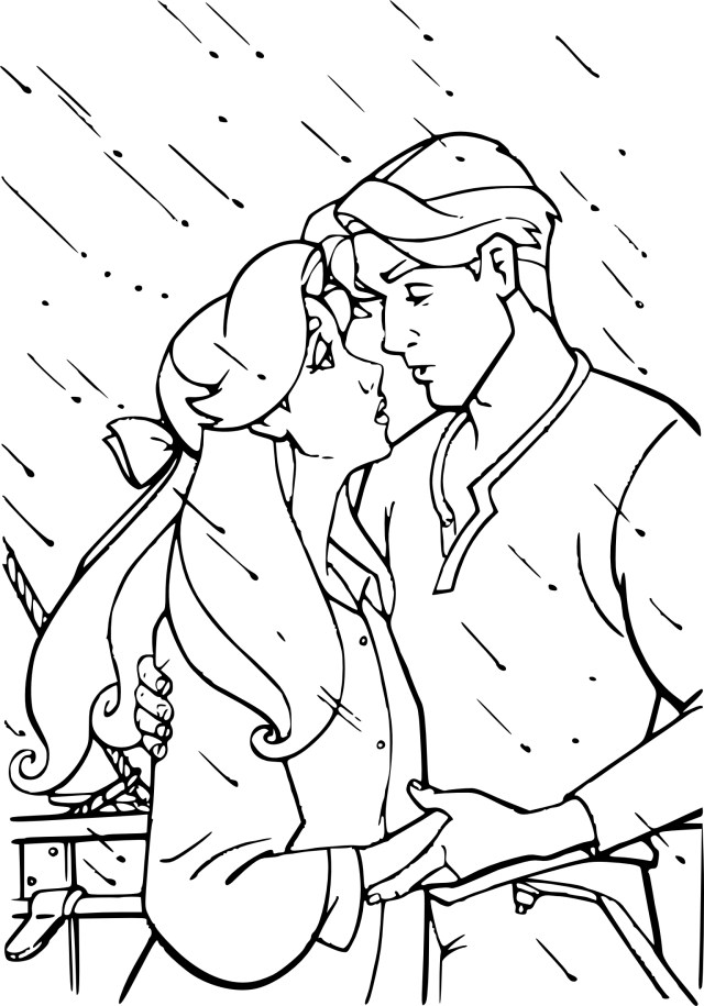 Coloriage Anastasia et Dimitri à imprimer