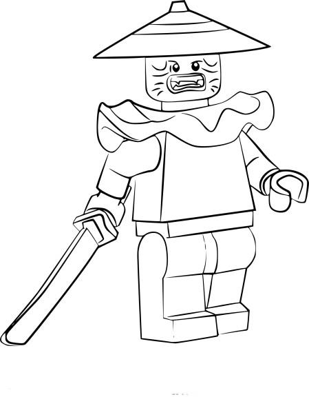 Coloriage Swordsman Ninjago à imprimer