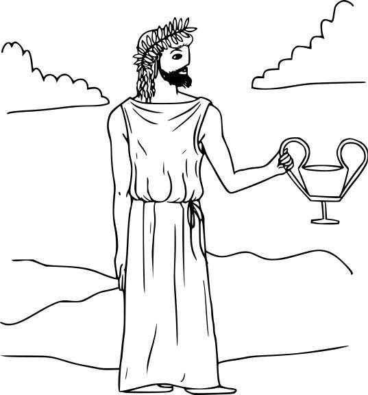 Coloriage Dionysos à imprimer
