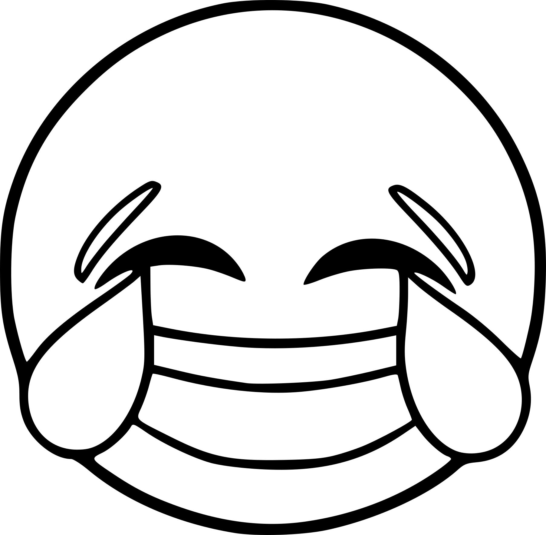 Coloriage Emoji rire à imprimer