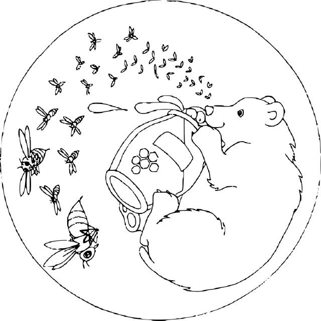 Coloriage mandala animaux et dessin à imprimer