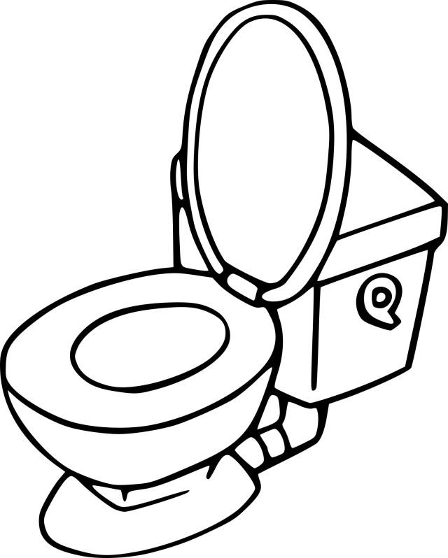 Coloriage toilette à imprimer