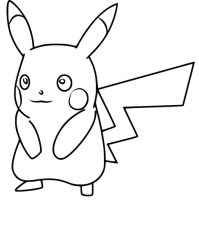 Coloriage De Pokemon Pikachu Coloriage Pikachu Pokemon