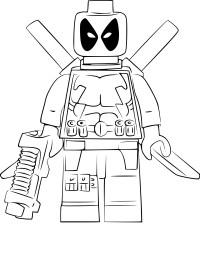 Lego Deadpool Para Colorear Deadpool Para Colorear