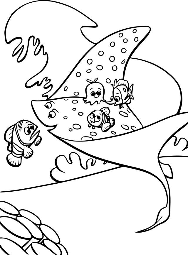 Coloriage le monde de Nemo gratuit à imprimer