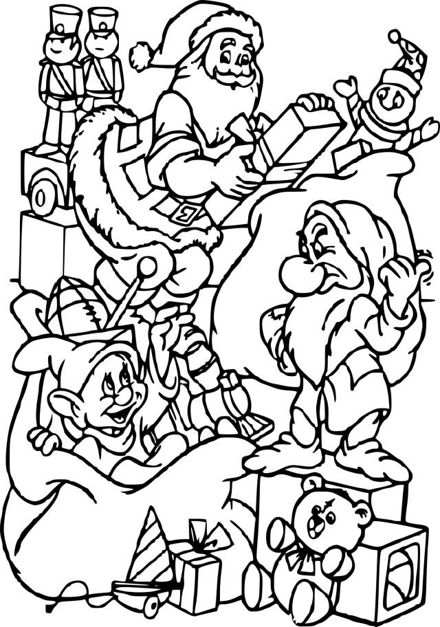 Coloriage Noel Disney à imprimer