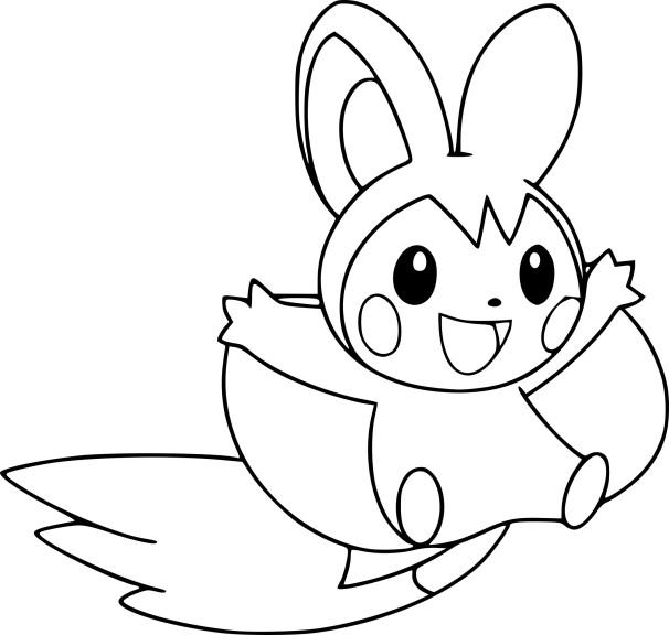 Coloriage Emolga Pokemon à imprimer