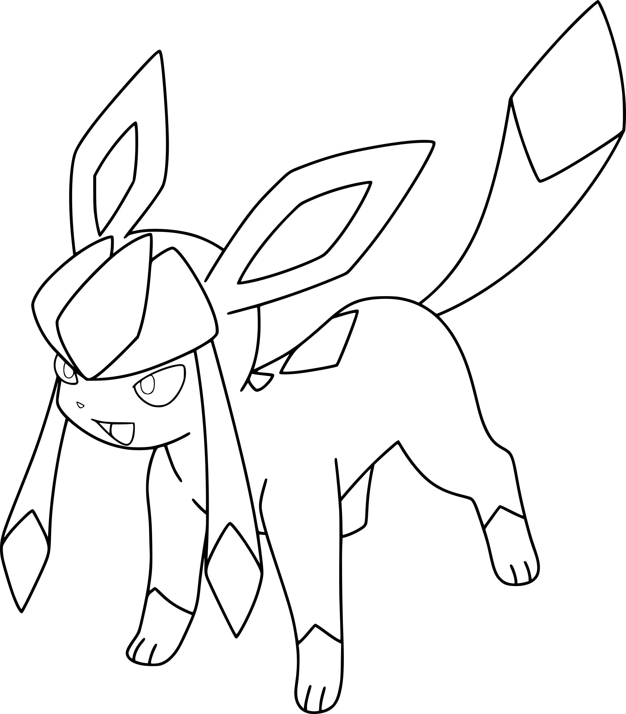 Coloriage Givrali Pokemon à imprimer