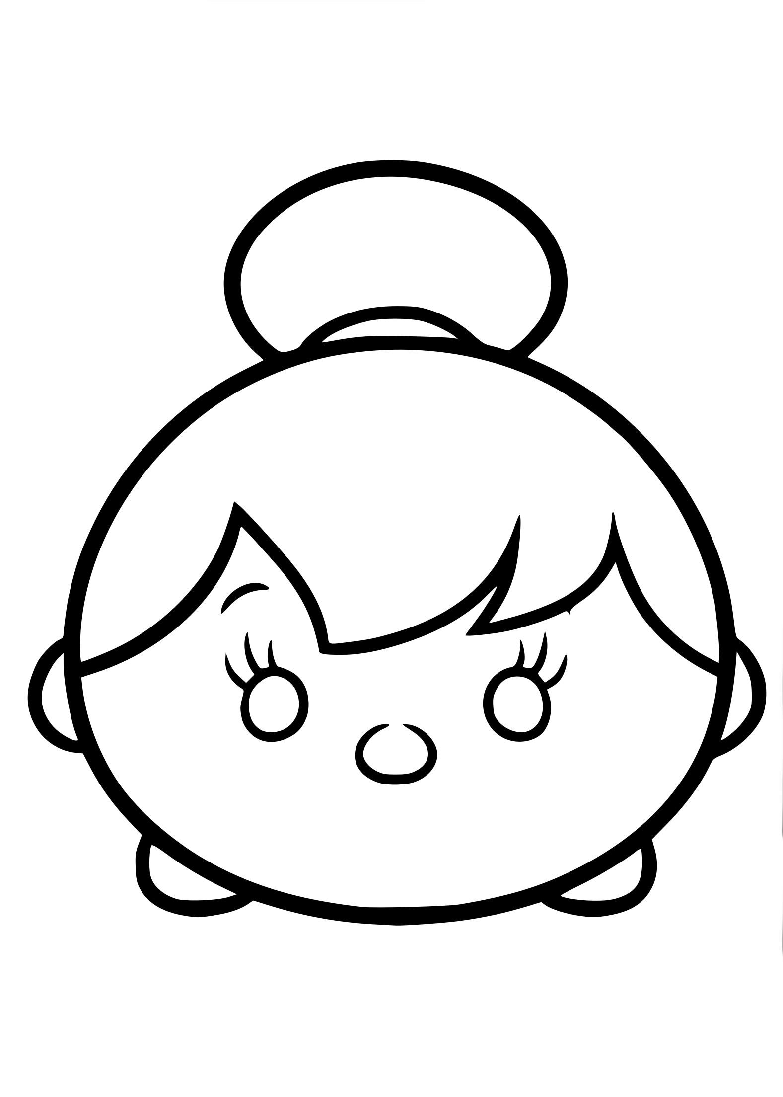 Coloriage Tsum Tsum fée clochette à imprimer