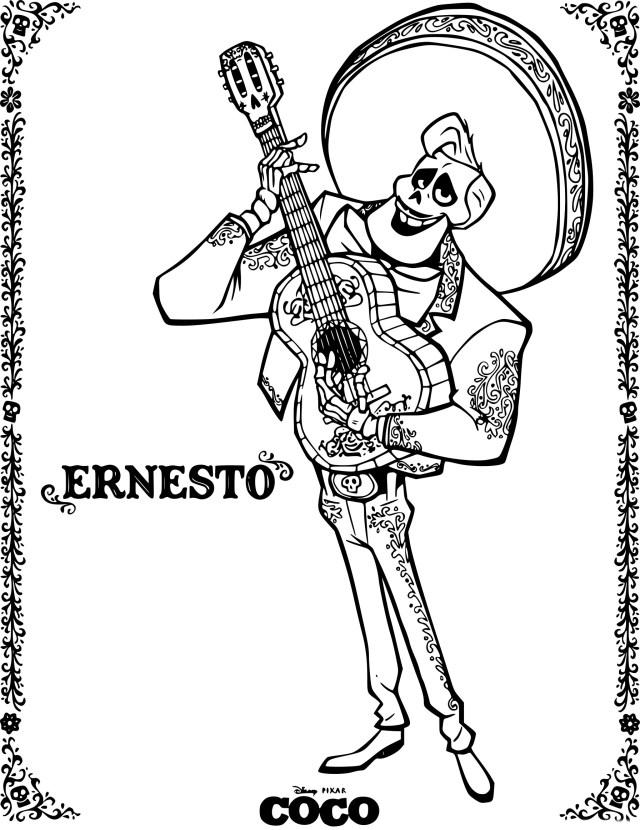 Coloriage Coco Ernesto à imprimer