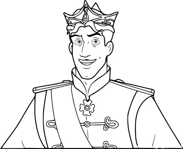 Coloriage Prince Naveen à imprimer